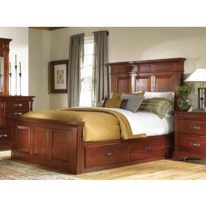 Kalispell E. King Mantel Bed with Storage