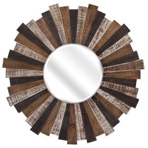 Wood Starburst Mirror
