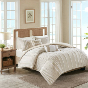 Anslee King 3 Piece Cotton Yarn Dyed Duvet Cover Set