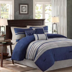 Palmer 7 Piece King Comforter Set - Blue