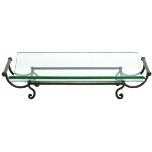 Glass Plate with Metal Stand